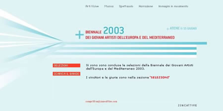Image for: Biennale Giovani 2003