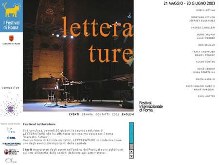 Festival Letterature 2003