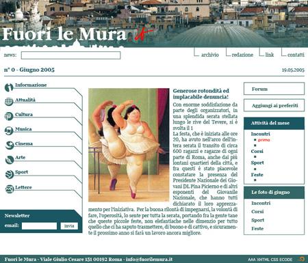 Fuori le Mura – Web Site