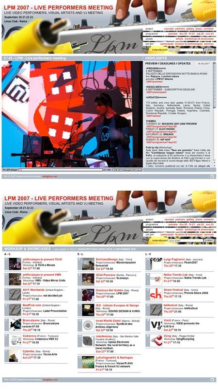 LPM 2007 – Web Site