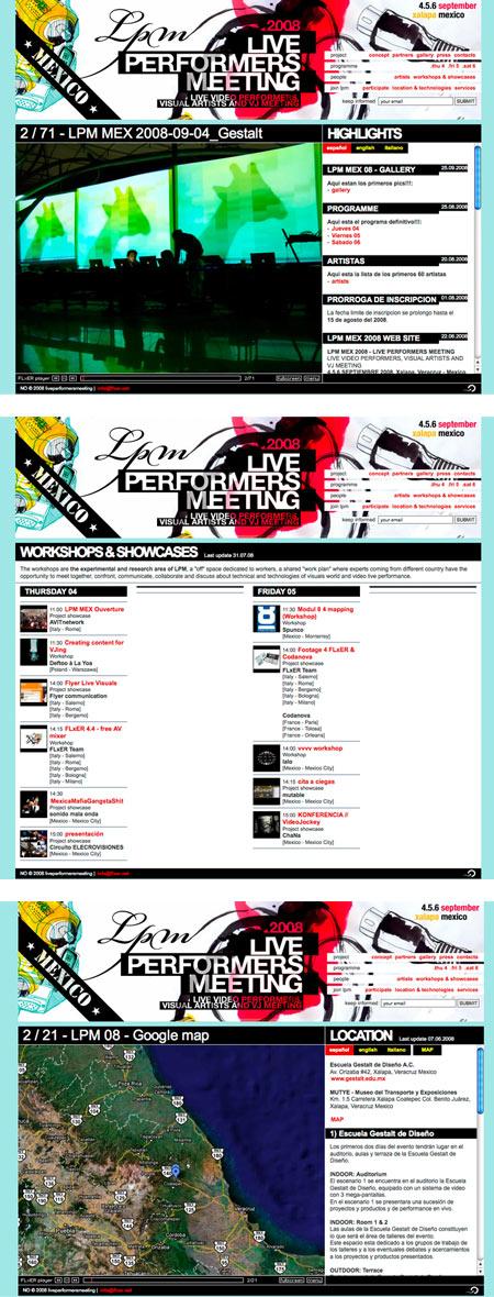 LPM 2008 MEX – Web Site