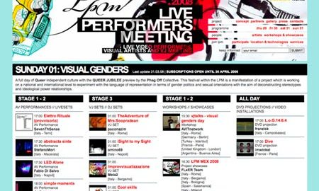 Image for: LPM 2008 – Web Site