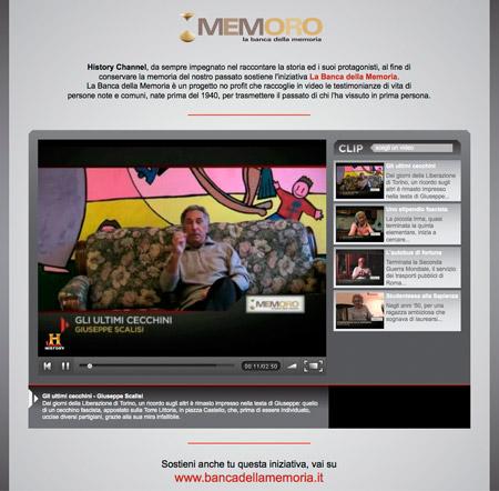 History Channel – Banca della Memoria