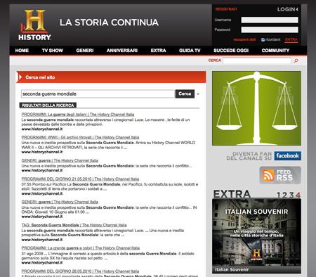 History Channel – Cerca nel sito