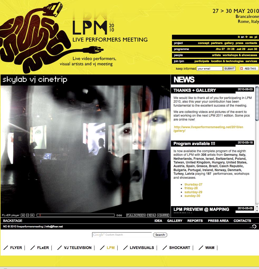 LPM 2010 – Web Site