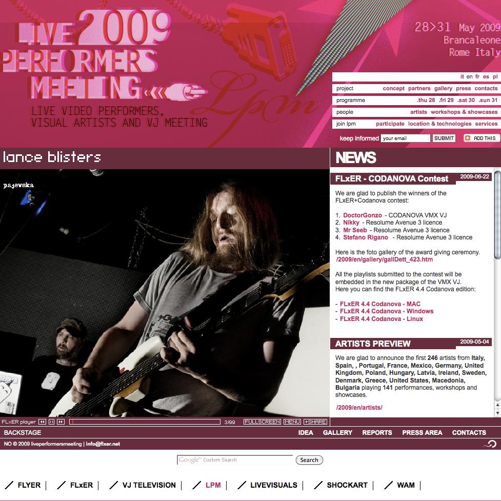 LPM 2009 – Web Site