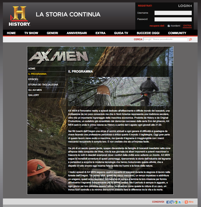 History Channel – Ax Men