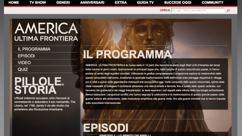 Image for: History Channel – America Ultima Frontiera