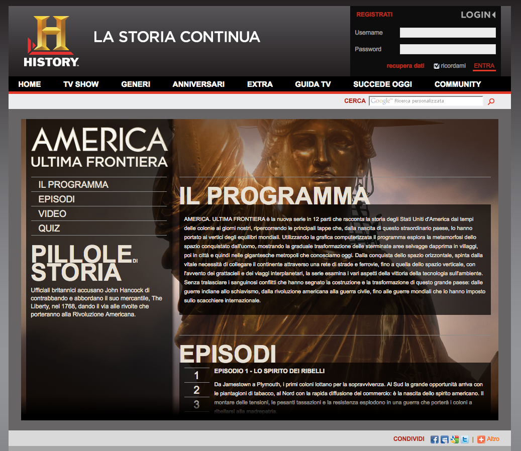 History Channel – America Ultima Frontiera