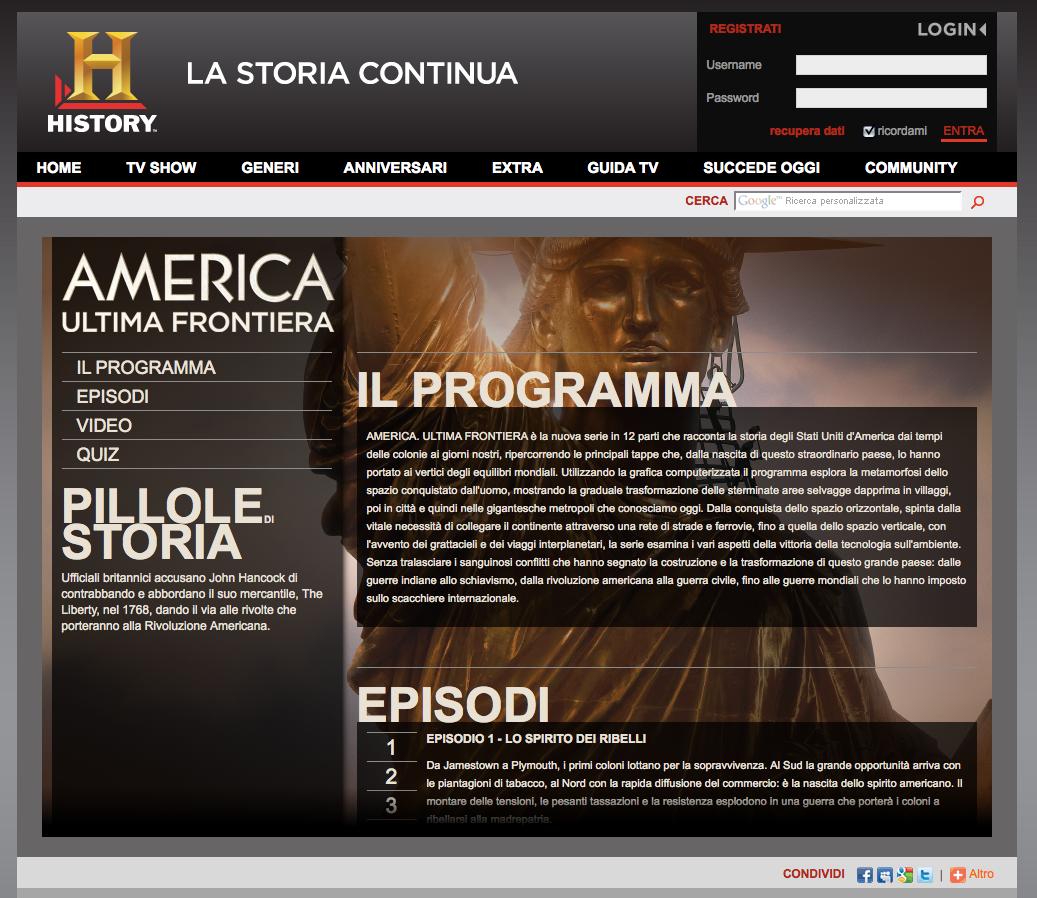 History Channel – America Ultima Frontiera
