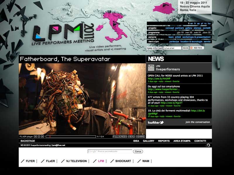 LPM 2011 – Web Site