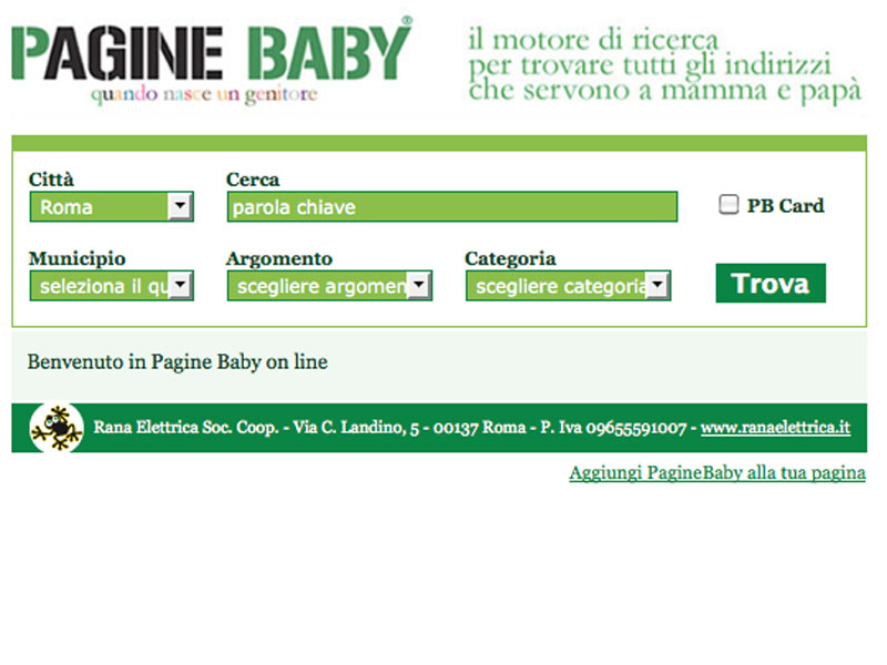 PagineBaby Widget