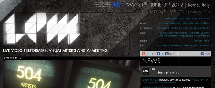 LPM 2012 – Web Site