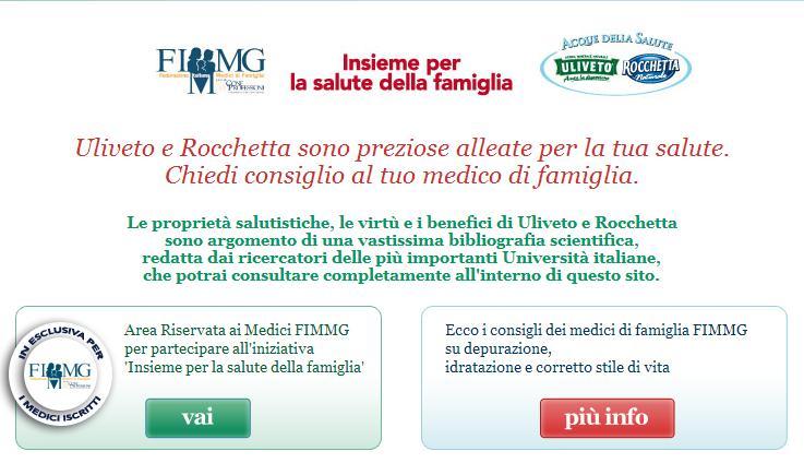 Acque della Salute: the new home page