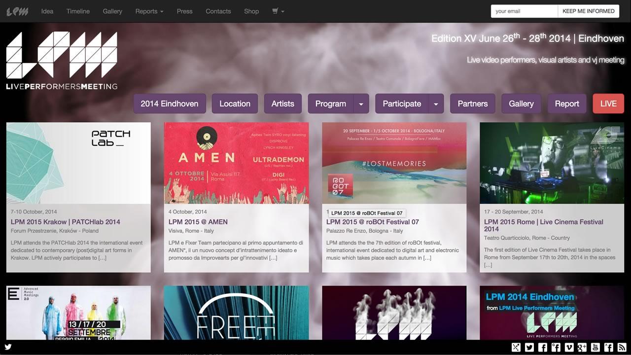LPM 2014 Eindhoven – Web Site