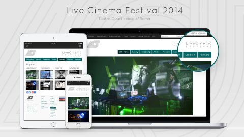 Image for: Live Cinema Festival 2014 – Web Site