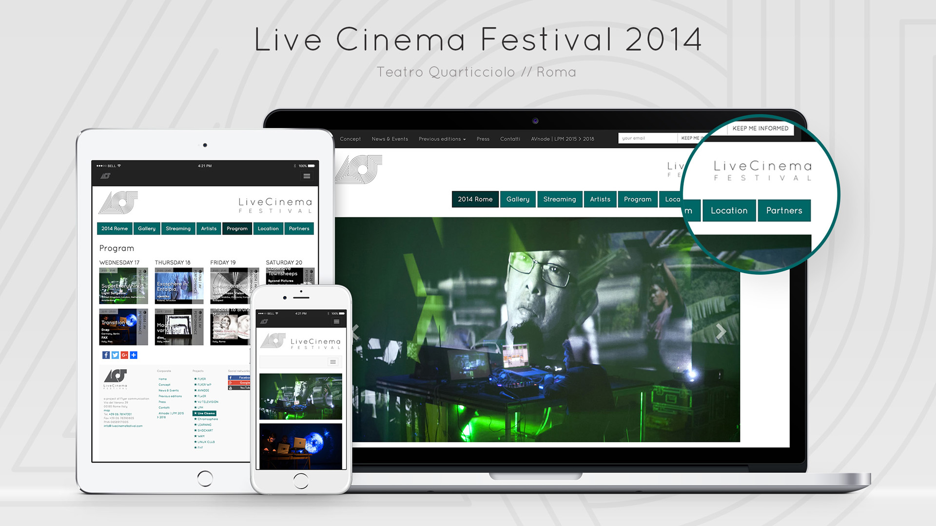 Live Cinema Festival 2014 – Web Site