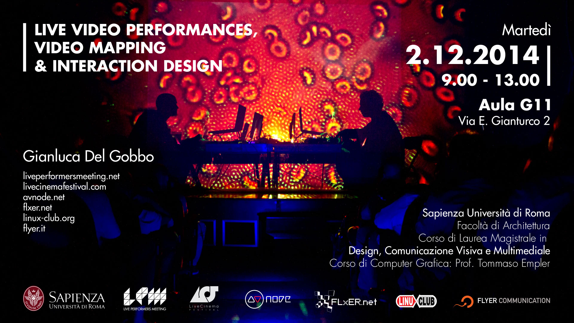LPM 2015 Rome | Live Video Performances, Video Mapping & Interaction Design