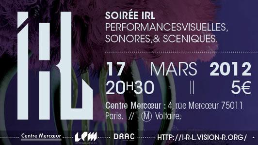 Vision'r 2012| Soirée IRL – Mars