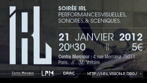 Image for: Vision'r 2012 | Soirée IRL – Janvier