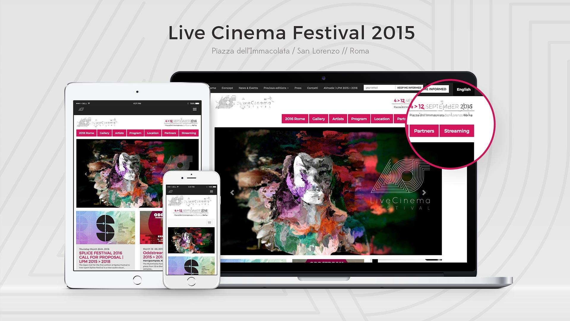 Live Cinema Festival 2015 – Web Site