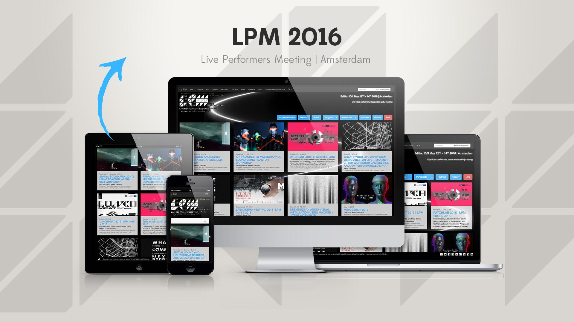 LPM 2016 Amsterdam – Web Site