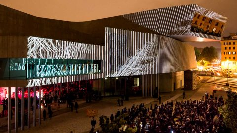 Image for: Video Mapping MAXXI Spring Attitude 2016