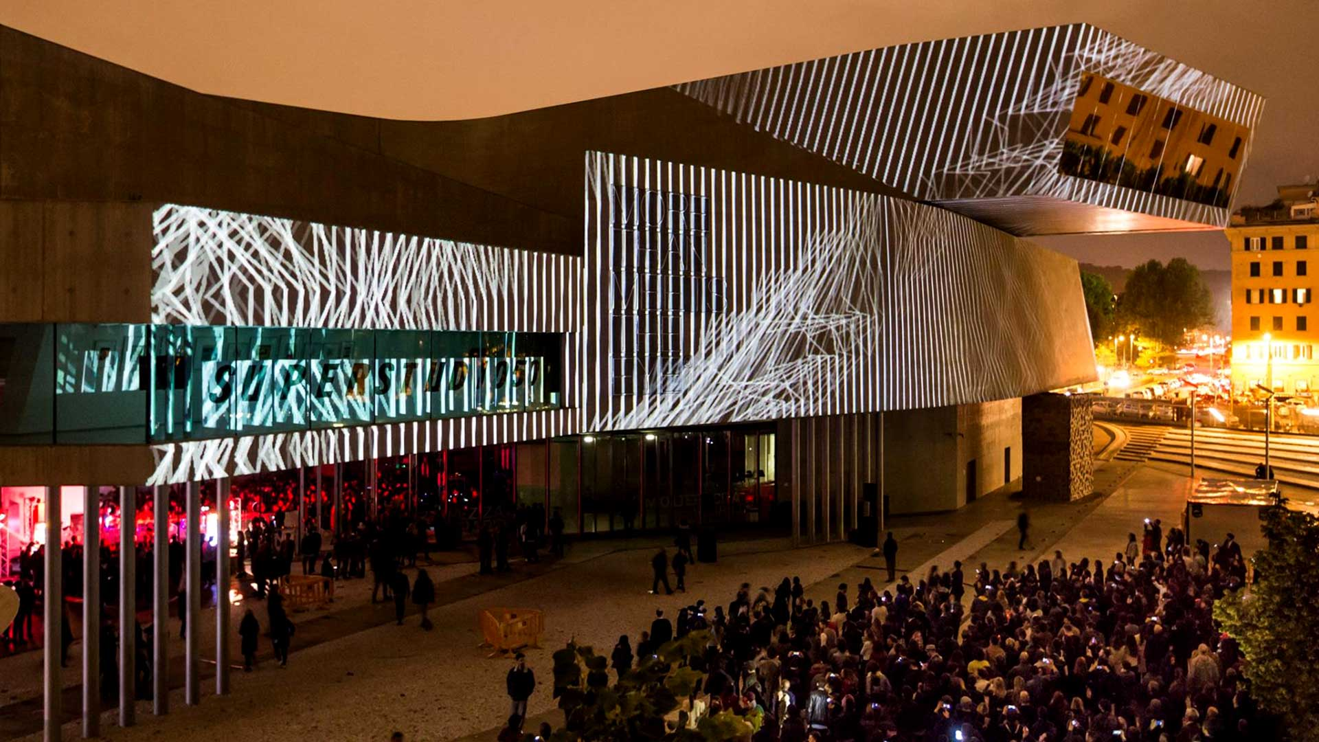 Video Mapping MAXXI Spring Attitude 2016