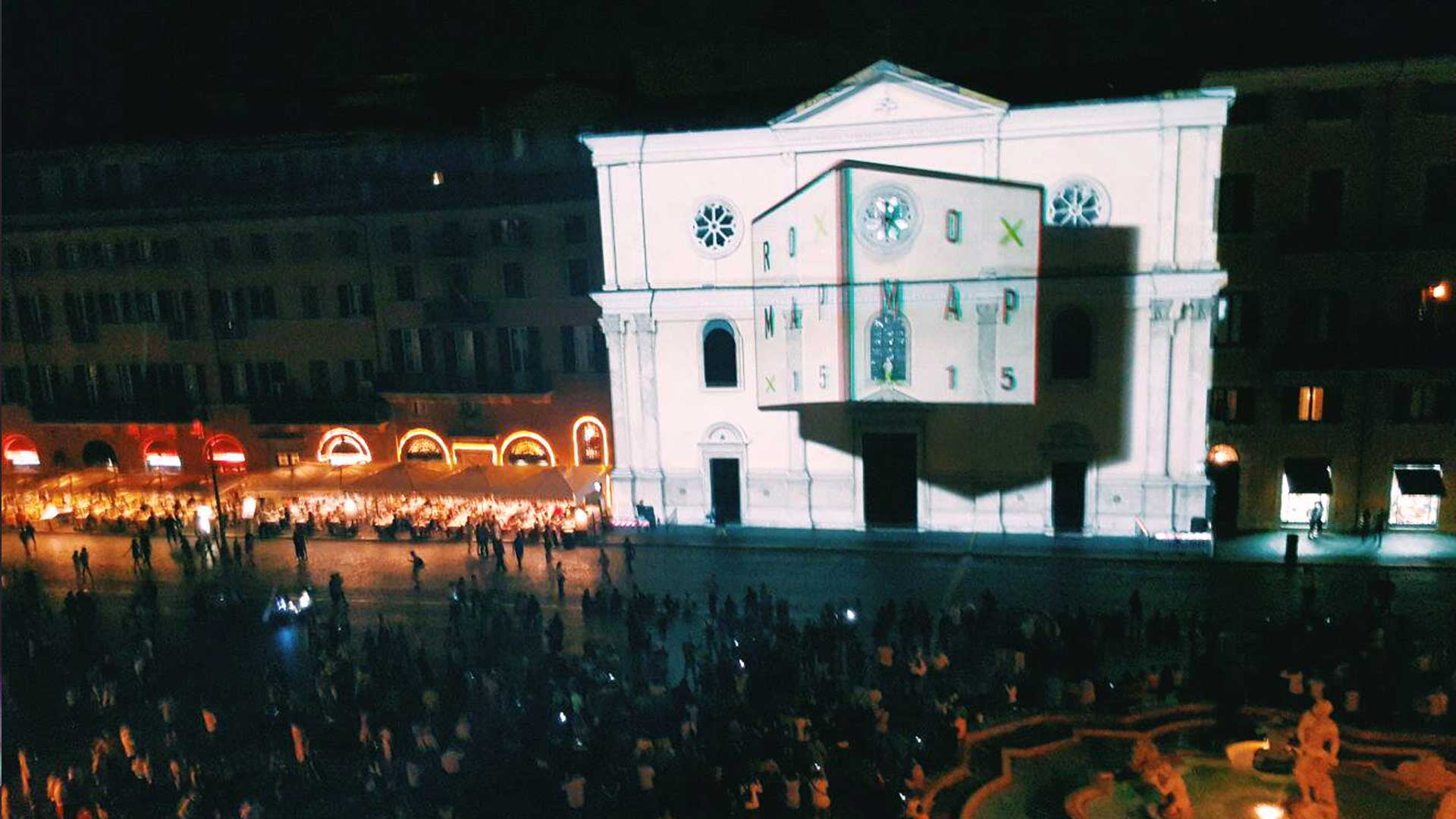 Video Mapping  RoMap 2015 Piazza Navona