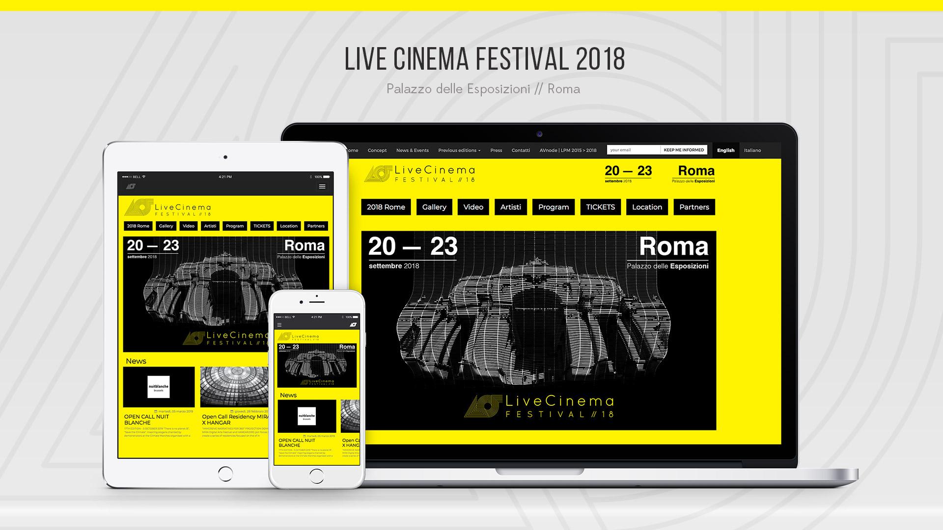 Live Cinema Festival 2018 – Web Site