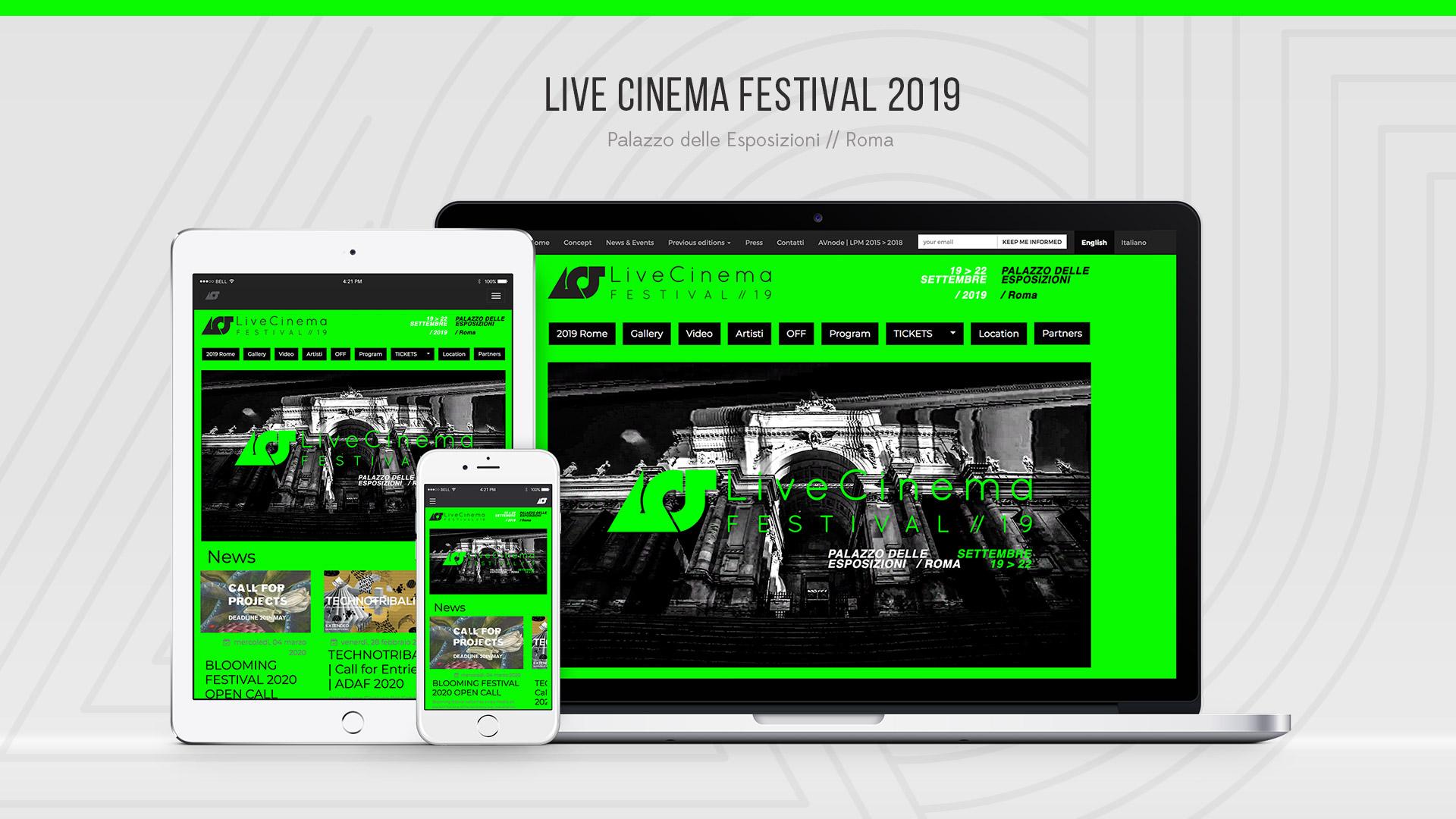 Live Cinema Festival 2019 – Web Site